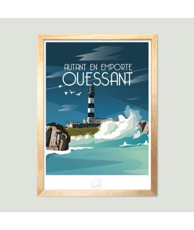 poster vintage ouessant bretagne