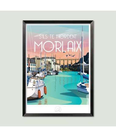 poster affiche vintage morlaix
