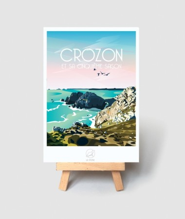 carte crozon vintage morgat