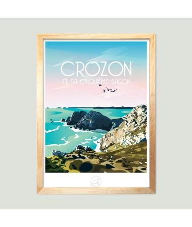 poster affiche vintage crozon