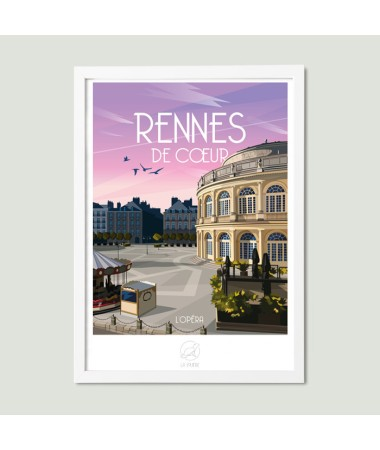 travel poster rennes