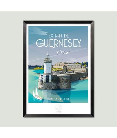 affiche vintage guernesey