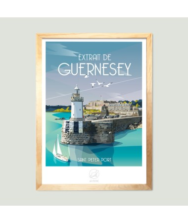 travelposter guernesey