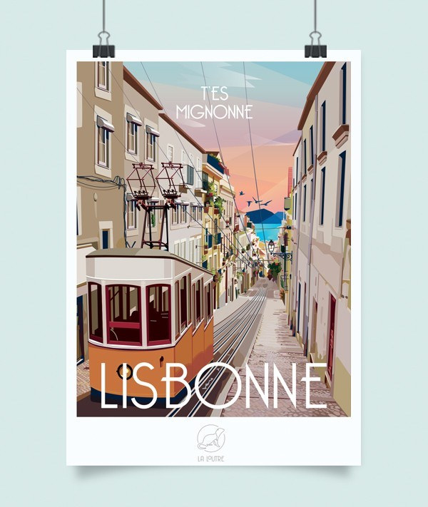 affiche lisbonne poster
